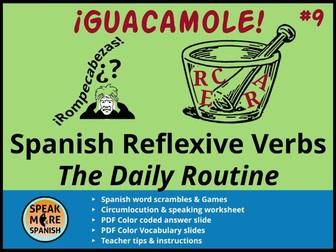 Spanish Puzzles & Games * Present Tense Reflexive Verbs  *Juegos de verbos reflexivos en español