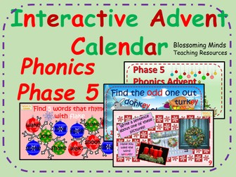 Phonics phase 5 - Interactive Christmas Advent Calendar