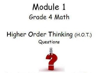 Grade 4 Math ENTIRE YEAR-Higher Order Thinking Questions