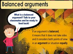 Balanced Arguments and Persuasive Writing 8 day unit
