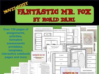 Roald Dahl's Fantastic Mr. Fox Novel Unit: Standards Aligned Plus 3 Teaching PowerPoints
