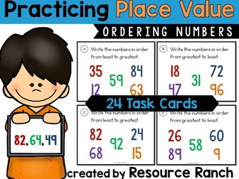 Place Value Task Cards - Ordering