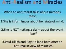 Anti-Realist views of Miracles