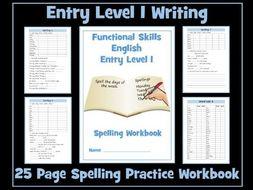 English Functional Skills - Spelling Workbook Entry Level 1