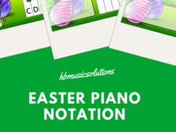 Easter Piano Notation (Treble Clef) Music KS2/KS3 Interactive Activities
