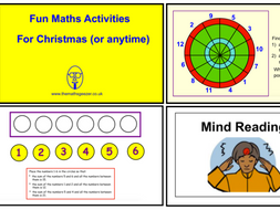 Fun Maths Activities for Christmas (or anytime) - (Smartboard version)