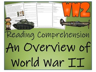 UKS2 History - An Overview of World War II  Reading Comprehension Activity