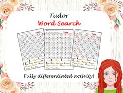 Tudor Wordsearch - Differentiated