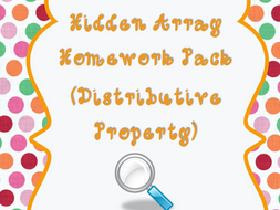 Distributive Property using Hidden Arrays - {Homework/Classwork Pack}