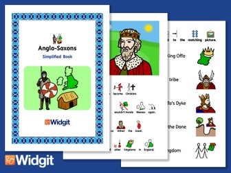 Anglo Saxons - History Book and Activities with Widgit Symbols