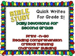 Daily Devotions: Bible Study Warm-Ups for 2nd Grade