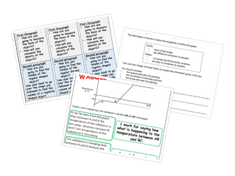 GCSE Physics Structure Strips - Kinetic Theory and Density