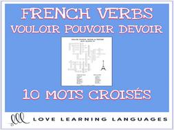 French Verbs VOULOIR - POUVOIR - DEVOIR Crossword Puzzles ...