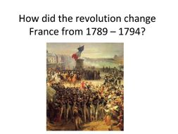Project on the French Revolution for your students to do, showing how France changed.