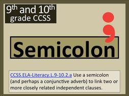 Semicolon : The Connector