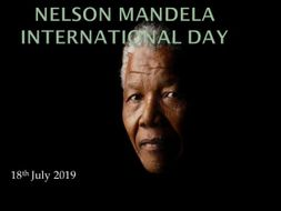 Nelson Mandela International Day - July 18th 2019 -  Key Stages 3, 4 and 5