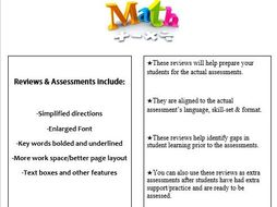 Grade 5, Math Module 1 REVIEW & ASSESSMENT w/Ans keys (printables & Smart Board)