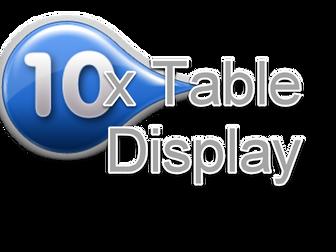 10 Times Table Display