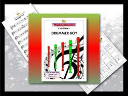 "Playalong Christmas Recorders ""DRUMMER BOY"""