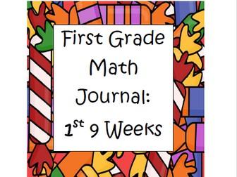Math Journal 1st Grade- First 9 weeks