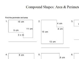 Area and perimeter revision worksheet tes