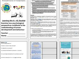 BTEC Level 3 Health and Social Care Unit 11 Psychological Perspective A2 and A3 spec resources