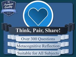 Metacognitive Reflection Activity - Think, Pair, Share - Random Question Generator [Metacognition]