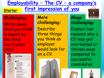 CVs : Employment + Careers