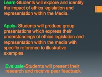 REpresentation in Media-Lesson Presentation Structure.