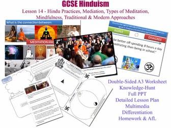GCSE Hinduism L14/20 [Hindu Meditation Techniques: Old & New; Dhyana, Pratyāhāra, Dharana, Samadhi]