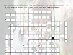 Time Prepositions Crossword Puzzle