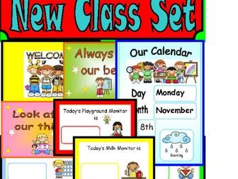 New Class - Visual timetable Certificates Calendar