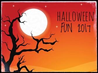 Halloween Fun Activities 2017.