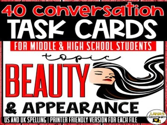 Conversation Starter Cards | Beauty | Social Skills Development for Middle&High