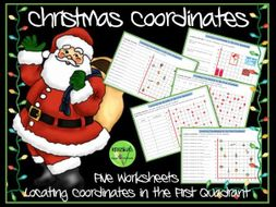 Christmas  Coordinates in the First Quadrant