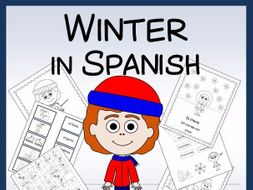 Spanish Winter Vocabulary sheets, Worksheets, Matching & Bingo Games