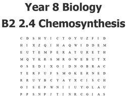 A Keyword-search for the Year 8 Biology B2  2.4  Chemosynthesis lesson.