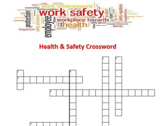 Health & Safety Crossword Puzzle with Answers