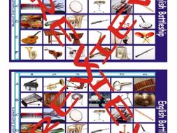 Musical Instruments Battleship Board Game