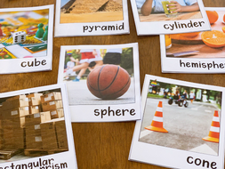 3D Shape Posters with Real Life Photos