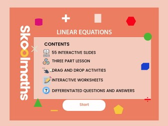 Linear Equations - Year 7, Key stage 3, (US 6th grade)