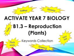Activate Year 7 Biology - B1.3 Reproduction (Plants) - Keyword Collection