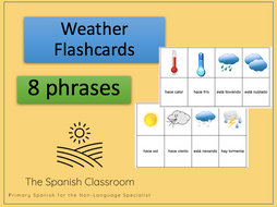 KS2/KS3 Spanish The Weather Flashcards