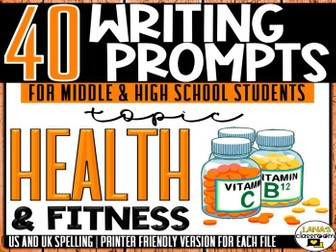 Daily Writing Prompts | Health | Middle and High School