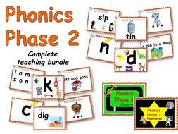 Phonics Phase 2 complete teaching set