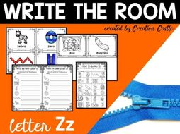 Alphabet Write the Room - Letter Z Mini Set