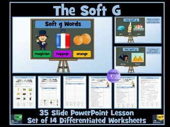 The Soft G : PowerPoint Lesson and Worksheets