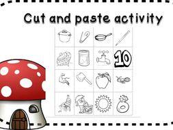 cut and paste picture bingo