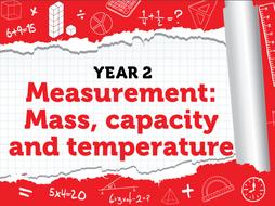 Year 2 - Measurement: Mass, capacity and temperature - Week 10