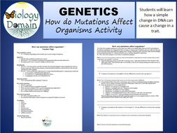 Genetics: How do Mutations Affect us? Activity